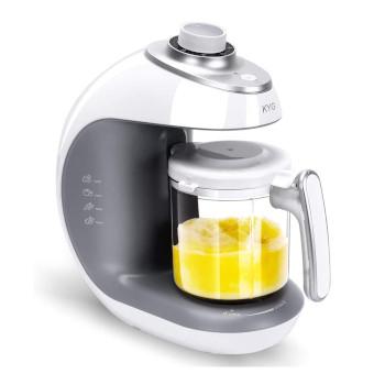 KYG Robot de Cocina al Vapor Procesador de Alimentos para Bebés 5 en 1 Máquina para Hacer Puré Smoothie Sopa y Zumo para Bebés